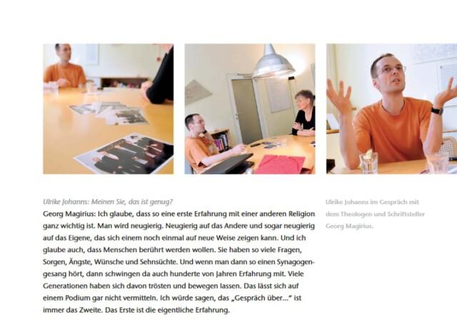 """Georg Magirius im Gespräch mit Ulrike Johanns. Ein Ausschnitt aus dem Band """"Religionen reichen sich die Hand""""."""