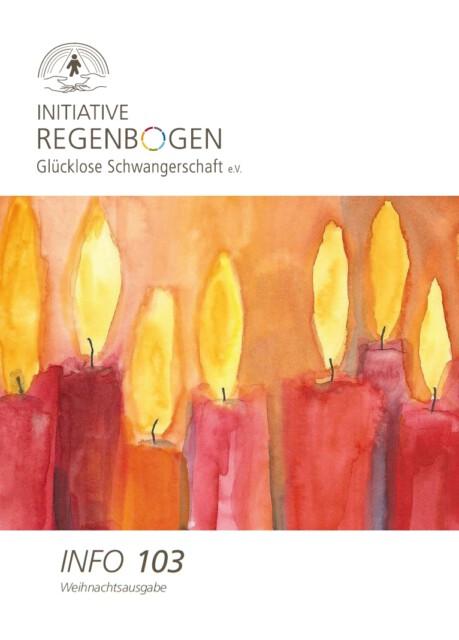 """Birgit Reiersloh Kerzen Cover der Zeitschrift der Initiative Regenbogen - Cover der Weihnachtsausgabe mit dem Beitrag """"Unvernebelt auf dem Weg der Trauer"""" von Georg Magirius"""