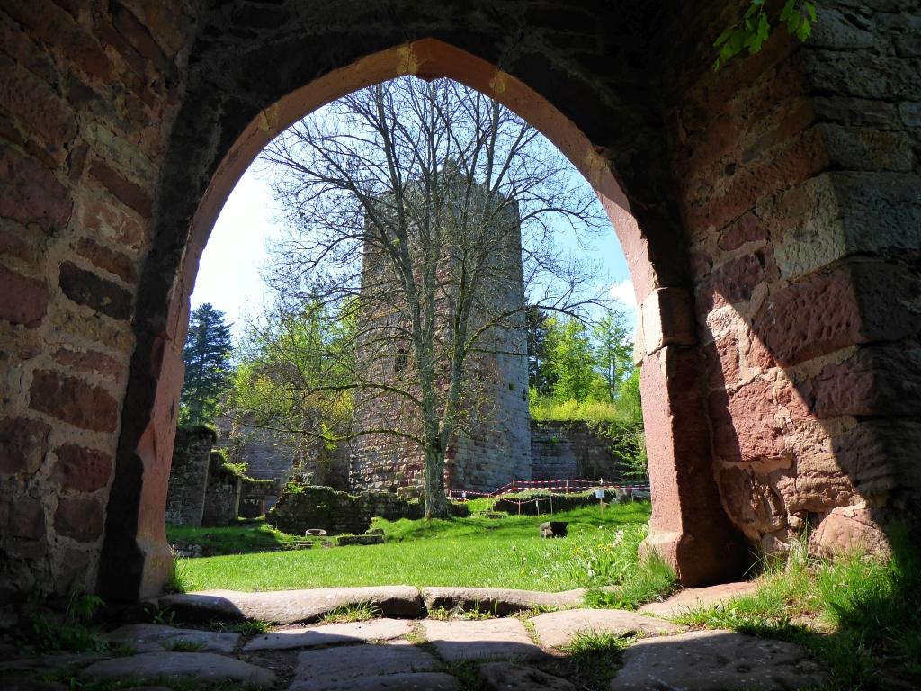 Die Burg Wildenberg ist gerade einmal 20 Minuten zu Fuß vom ältesten Bauernhaus im Odenwald entfernt.