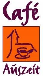 Logo Café Auszeit Neuwied - serviert wird dort der Hoffnungskuchen