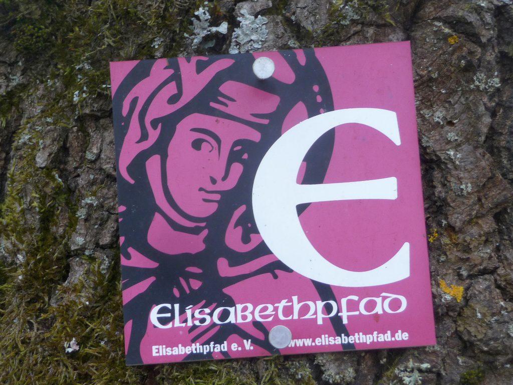 Wein genießen ohne Onlinecoach - Der Elisabethpfad - Markierung