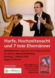 Harfe, Hochzeitsnacht und 7 tote Ehemänner auf dem Hofbauernhof in Schömberg (c) Echter Verlag Würzburg