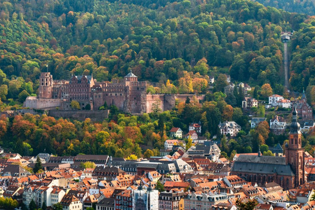Spiritueller Durchbruch in Heidelberg - Ansicht Heildeslbergs vom Philosophenweg