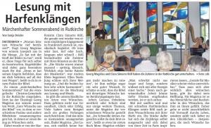 Konzertlesung in Dietzenbach Bericht von Sonja Druecke in Offenbach Post