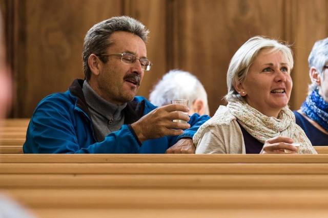 Noahs Traumwein Kirche auf dem Weinfest in Malans 2015 Foto © Rüdiger Döls www.malans-reformiert.ch