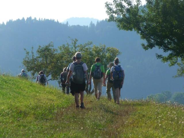 Pilgern für Aufsteiger - kurz vor der Kirche Maria in Ketten in Zell - Schwarzwald