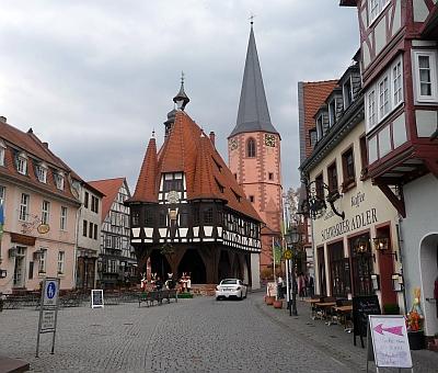 Rathaus in Michelstadt Panorama