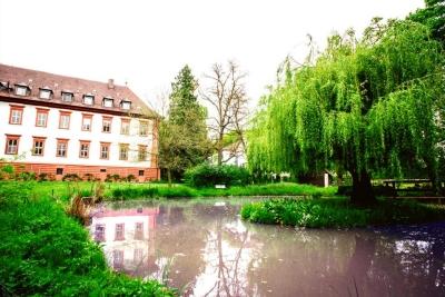 Schloss Kirchschönbach mit Teich und Weidenbaum