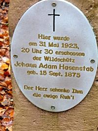 Wildschütz Hasenstab aus Frammersbach - Foto von Georg Magirius