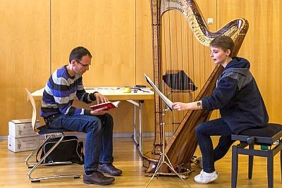 Wortwerkstatt mit Isabelle Müller und Georg Magirius - Foto von Matthias Keilholz