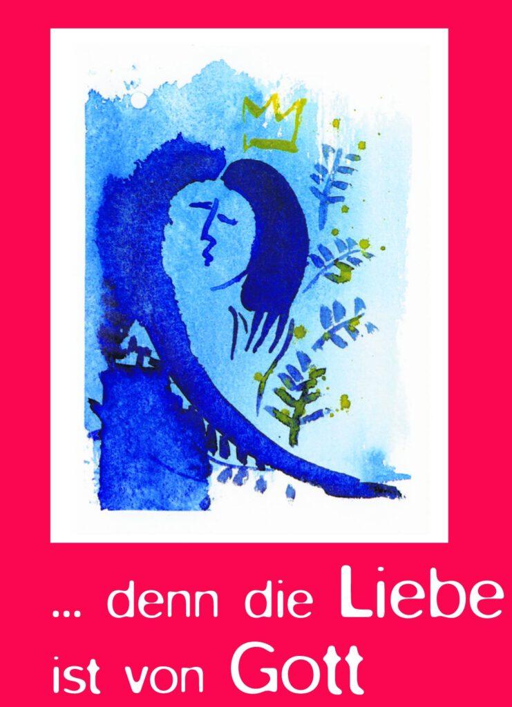 """Cover des Buches """"... denn die Liebe ist von Gott"""". Grundlage für die Liebesgeschichten mit Musik. Die  Sendung macht deutlich, wozu Musik imstande ist."""