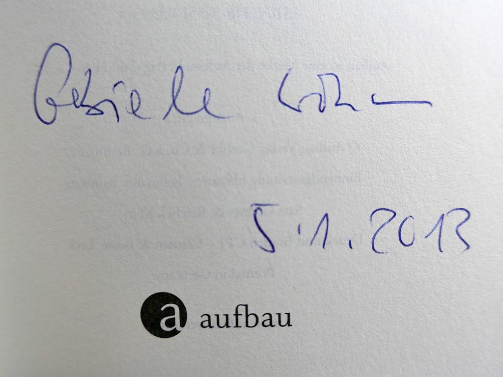 Autograph von Gabriele Wohmann