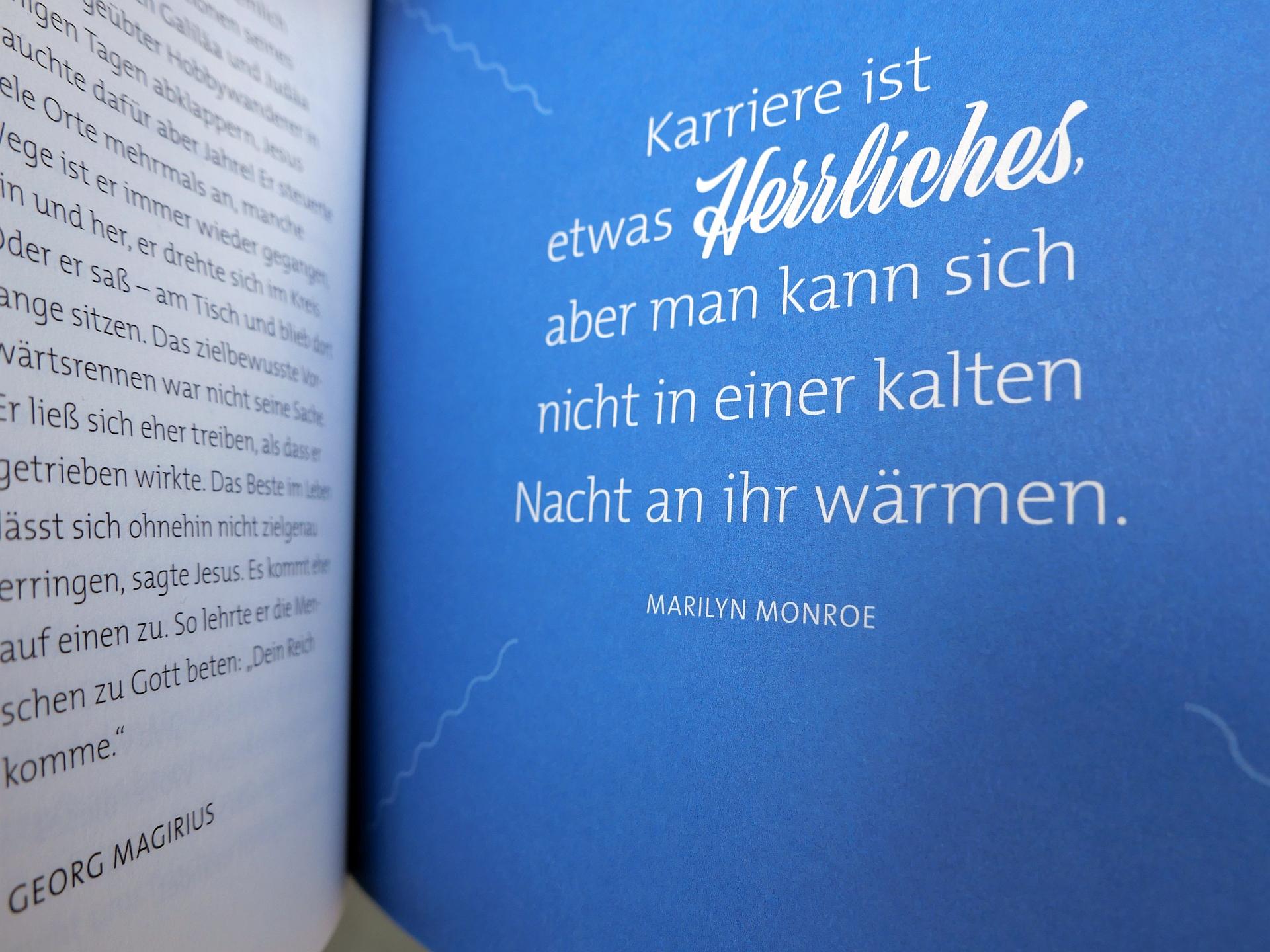 Worte Marilyn Monroes über den Sinn der Karriere